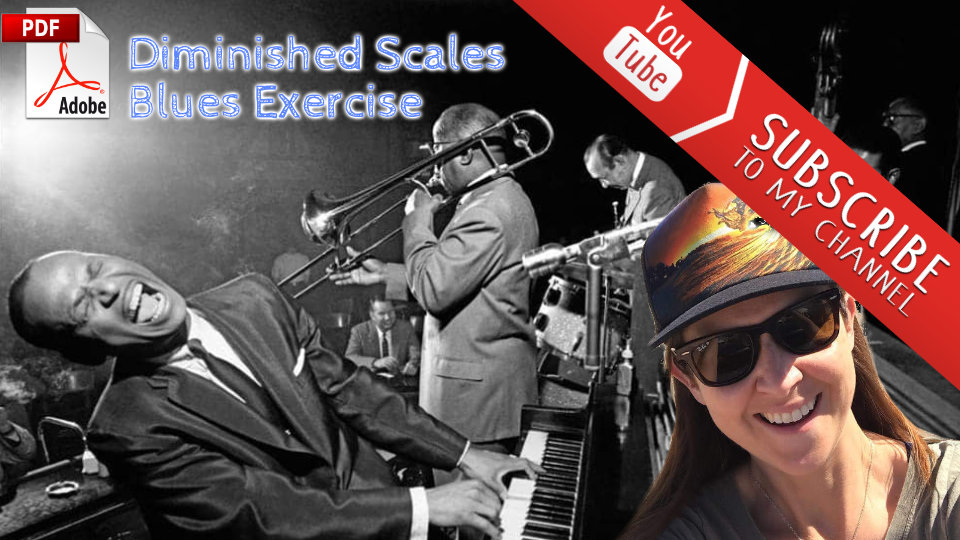 Diminished Scales Blues Exercise